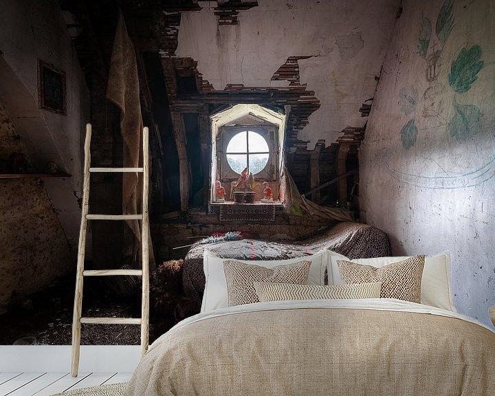 Beispiel fototapete: Dunkles verlassenes Schlafzimmer. von Roman Robroek
