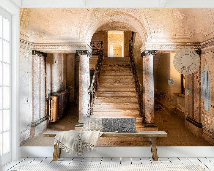 Beispiel fototapete: Stilvolle, verlassene Treppe. von Roman Robroek