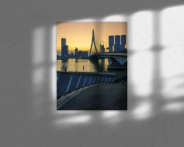 Erasmusburg à Rotterdam au lever du soleil
