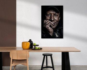 Porträt einer obdachlosen Personq von Michael Bulder
