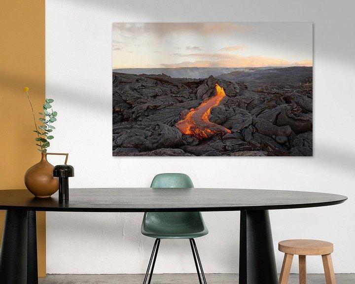 Beispiel: Lavastrom auf Hawaii von Ralf Lehmann