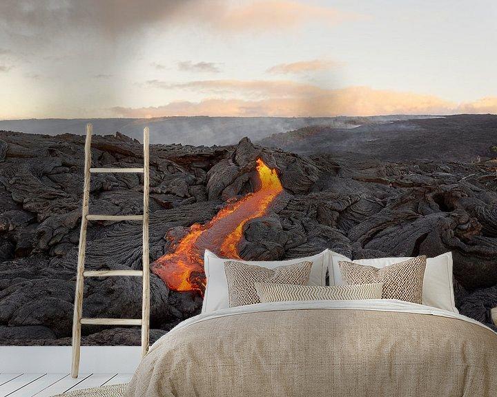 Beispiel fototapete: Lavastrom auf Hawaii von Ralf Lehmann