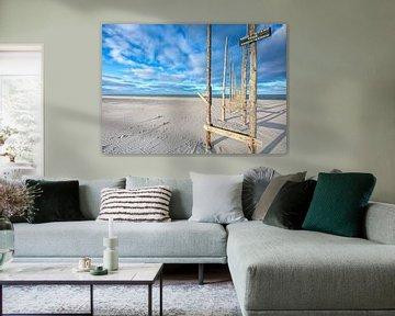 Strand van Texel. van Justin Sinner Pictures ( Fotograaf op Texel)