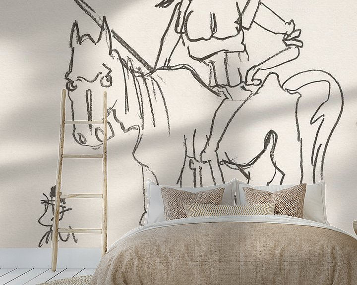 Beispiel fototapete: Don Quijote auf Rosinante von Wieland Teixeira