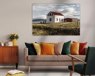 Eenzaam zomerhuis op IJsland van Jan Schuler