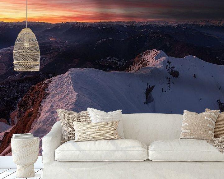 Beispiel fototapete: Sonnenuntergang in Kärnten von Thomas Weber