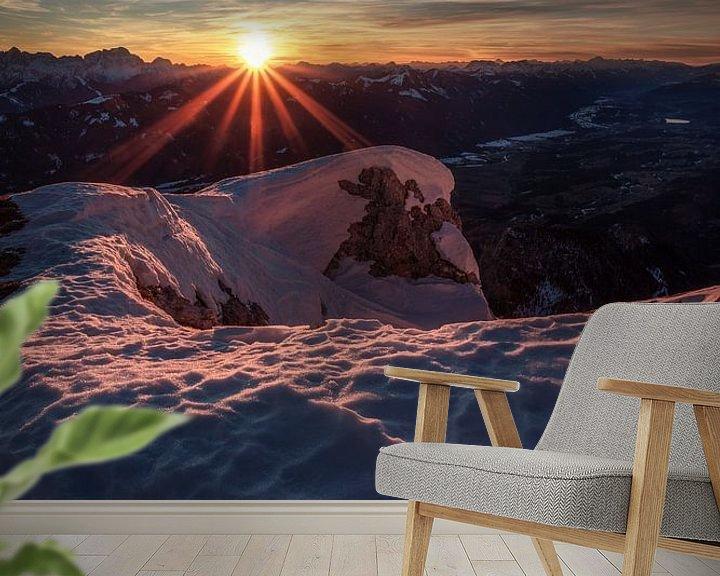 Beispiel fototapete: Sonnenuntergang am Dobratsch von Thomas Weber