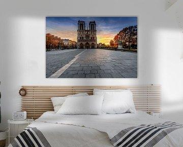 Notre Dame Parijs bij zonsopgang van Rene Siebring