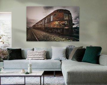 Vervallen trein van Vivian Teuns