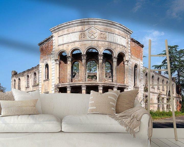 Beispiel fototapete: Verlassenes Gebäude im Verfall. von Roman Robroek