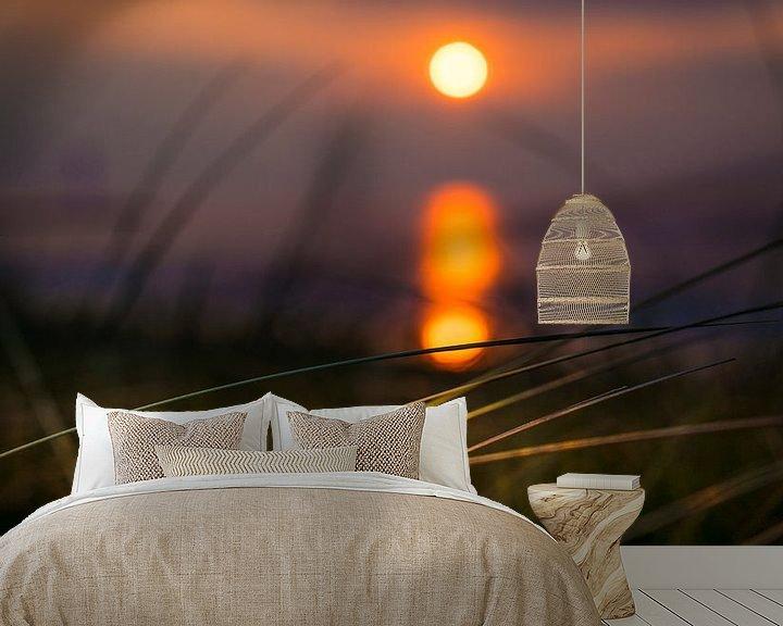 Sfeerimpressie behang: 1140 Sunset over the North Sea van Adrien Hendrickx