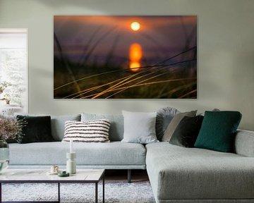1140 Sonnenuntergang über der Nordsee von Adrien Hendrickx