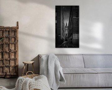 Zwart-Wit: Steeg naar St. Paul's Kathedraal van Rene Siebring