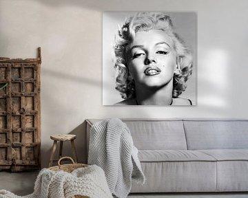 Marylin Monroe, portret van Gert Hilbink