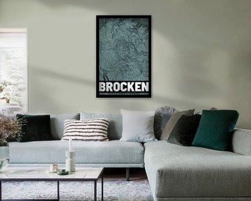 Brocken | Landkarte Topografie (Grunge) von ViaMapia