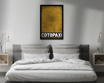 Cotopaxi | Landkarte Topografie (Grunge) von ViaMapia