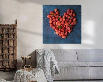 Hart van aardbeien van Karin Riethoven