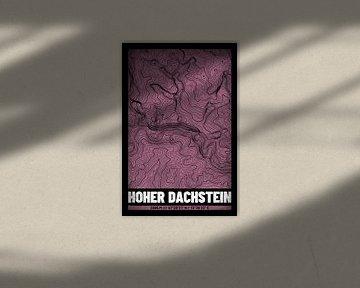 Hoher Dachstein | Landkarte Topografie (Grunge) von ViaMapia