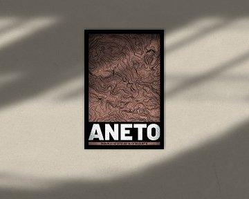 Aneto | Landkarte Topografie (Grunge) von ViaMapia