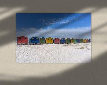 Gekleurde huisjes van Muizenberg van Reis Genie