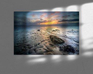 Waddenzee met slikken en zonsondergang van Fotografiecor .nl