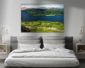 Uitzicht over Ullswater, Lake District van Frank Peters