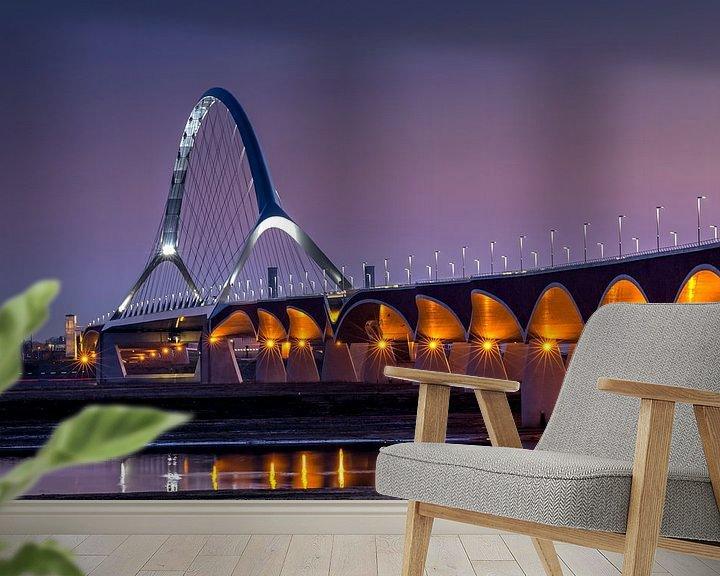 Impression: Le pont 'De Oversteek' à Nimègue sur Adelheid Smitt