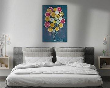 ballon van fruit van Karin Riethoven