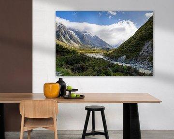 Mountains bij Mount Cook van Marcel Saarloos