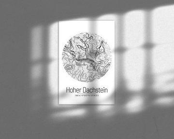 Hoher Dachstein | Kaart Topografie (Minimaal) van ViaMapia