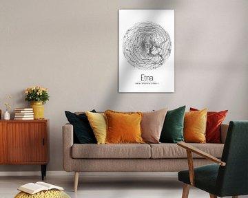 Etna | Kaarttopografie (Minimaal) van ViaMapia