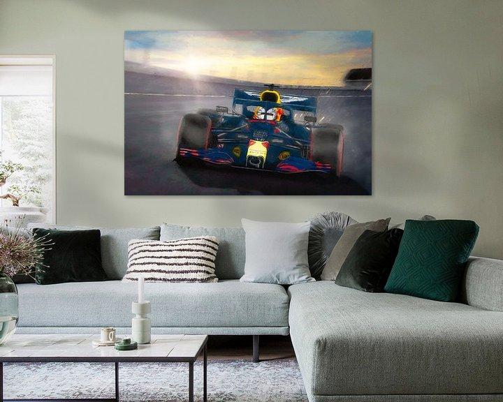 Sfeerimpressie: Red Bull met Max Verstappen op Zandvoort in 2020 van Arjen Roos