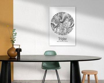 Triglav | Topographie de la carte (minimum) sur ViaMapia