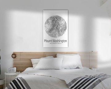 Le Mont Washington | Topographie de la carte (Minimal) sur ViaMapia