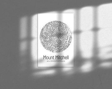 Mount Mitchell | Landkarte Topografie (Minimal) von ViaMapia