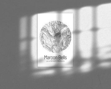 Maroon Bells | Landkarte Topografie (Minimal) von ViaMapia