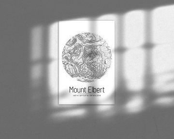 Mount Elbert | Landkarte Topografie (Minimal) von ViaMapia