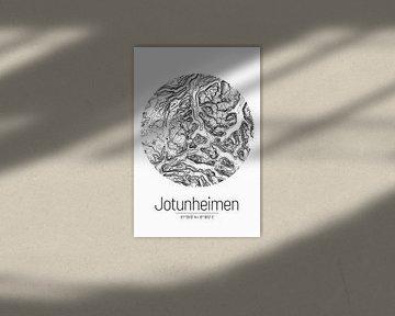 Jotunheimen | Topographie de la carte (minimum) sur ViaMapia