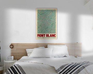 Mont Blanc | Kaart Topografie (Retro) van ViaMapia