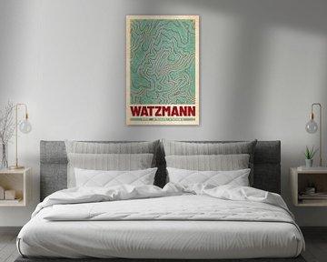 Watzmann | Landkarte Topografie (Retro) von ViaMapia