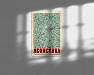 Aconcagua | Landkarte Topografie (Retro) von ViaMapia