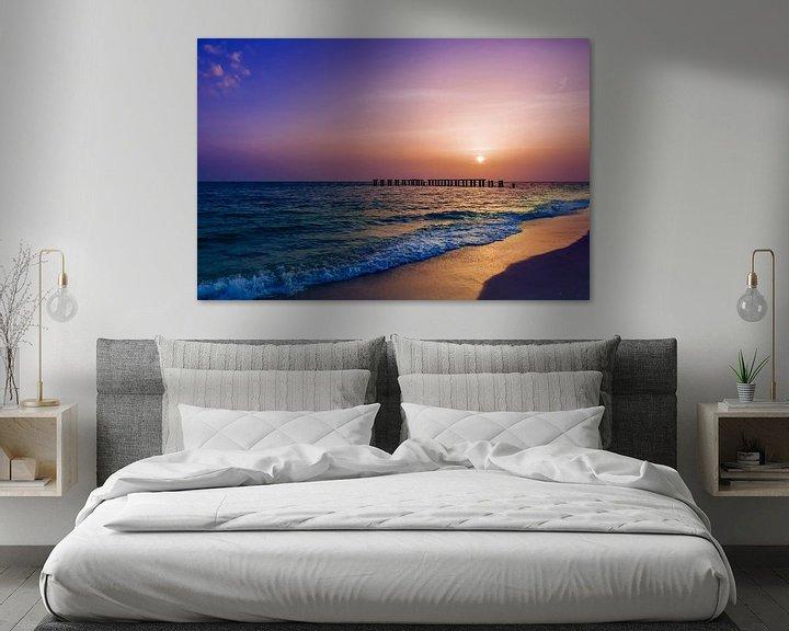 Sfeerimpressie: Gasparilla Island Zonsondergang van Melanie Viola