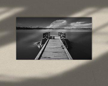 Aanlegsteiger in Zweden van Henk Meijer Photography