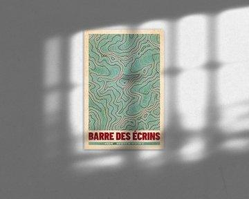 Barre des Écrins | Landkarte Topografie (Retro) von ViaMapia