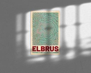 Elbrus | Landkarte Topografie (Retro) von ViaMapia