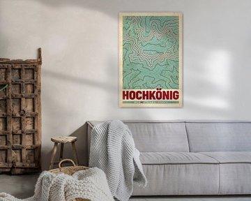 Hochkönig | Landkarte Topografie (Retro) von ViaMapia
