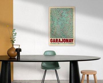 Garajonay | Landkarte Topografie (Retro) von ViaMapia