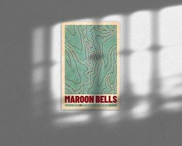 Maroon Bells | Landkarte Topografie (Retro) von ViaMapia