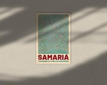 Samaria-Schlucht | Landkarte Topografie (Retro) von ViaMapia