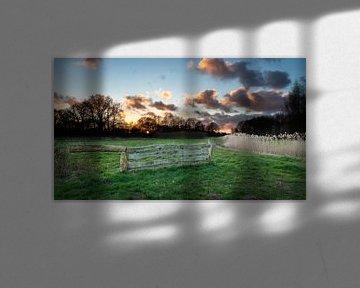 Laatste zonnestralen bij de Aelderstroom van Lynxs Photography